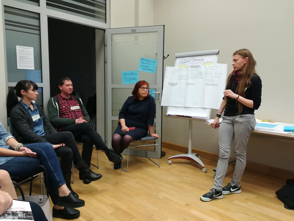 Koordynatorka projektu i sojusznicy projektu Weź Oddech w Białymstoku na spotkaniu